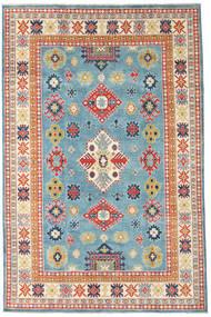 カザック 絨毯 193X296 オリエンタル 手織り 暗めのベージュ色の/ターコイズブルー (ウール, アフガニスタン)
