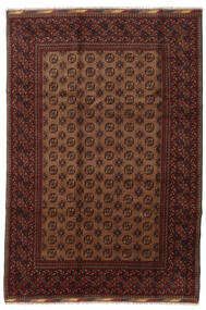 アフガン 絨毯 201X294 オリエンタル 手織り 深紅色の/茶 (ウール, アフガニスタン)