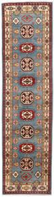カザック 絨毯 81X309 オリエンタル 手織り 廊下 カーペット 深紅色の/青 (ウール, アフガニスタン)
