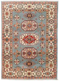 カザック 絨毯 124X174 オリエンタル 手織り 濃いグレー/深紅色の (ウール, パキスタン)