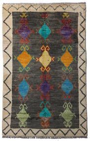Moroccan Berber - Afghanistan 絨毯 84X134 モダン 手織り 濃いグレー/薄い灰色 (ウール, アフガニスタン)