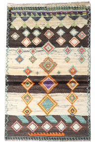 Moroccan Berber - Afghanistan 絨毯 87X138 モダン 手織り ベージュ/濃い茶色 (ウール, アフガニスタン)