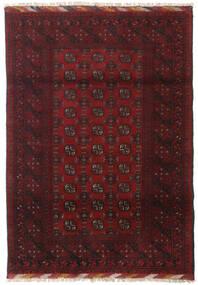 アフガン 絨毯 122X173 オリエンタル 手織り 深紅色の/濃い茶色 (ウール, アフガニスタン)