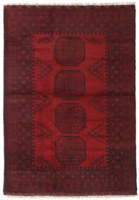 アフガン 絨毯 123X173 オリエンタル 手織り 深紅色の/濃い茶色 (ウール, アフガニスタン)