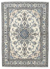 ナイン 絨毯 169X236 オリエンタル 手織り ベージュ/薄い灰色 (ウール, ペルシャ/イラン)