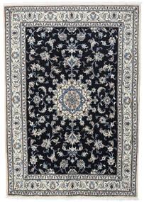ナイン 絨毯 166X236 オリエンタル 手織り 黒/薄い灰色 (ウール, ペルシャ/イラン)