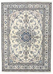 ナイン 絨毯 164X228 オリエンタル 手織り ベージュ/薄い灰色 (ウール, ペルシャ/イラン)