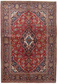 カシャン 絨毯 147X215 オリエンタル 手織り 深紅色の/濃い紫 (ウール, ペルシャ/イラン)