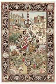 タブリーズ 50 Raj 絨毯 150X219 オリエンタル 手織り 茶/薄茶色 (ウール/絹, ペルシャ/イラン)