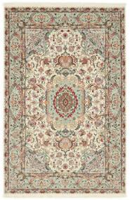 タブリーズ 70 Raj 絹の縦糸 絨毯 100X152 オリエンタル 手織り 薄い灰色/ベージュ (ウール/絹, ペルシャ/イラン)