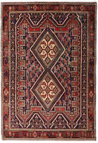 アフシャル Shahre Babak 絨毯 125X182 オリエンタル 手織り 深紅色の/濃い茶色 (ウール, ペルシャ/イラン)