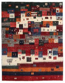 ギャッベ ペルシャ 絨毯 167X213 モダン 手織り 深紅色の/黒/濃い茶色 (ウール, ペルシャ/イラン)