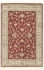 Herike Ch 絨毯 124X186 オリエンタル 手織り 深紅色の/ベージュ (絹, 中国)
