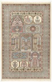 Ilam Sherkat Farsh シルク 絨毯 148X223 オリエンタル 手織り 薄い灰色/ベージュ (ウール/絹, ペルシャ/イラン)