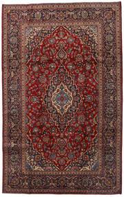 カシャン 絨毯 200X320 オリエンタル 手織り 深紅色の/濃いグレー (ウール, ペルシャ/イラン)