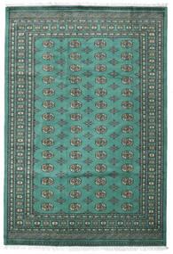 パキスタン ブハラ 2Ply 絨毯 187X276 オリエンタル 手織り ターコイズブルー/濃いグレー (ウール, パキスタン)