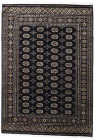 パキスタン ブハラ 2Ply 絨毯 171X247 オリエンタル 手織り 黒/濃いグレー (ウール, パキスタン)