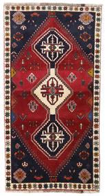 カシュガイ 絨毯 98X185 オリエンタル 手織り 深紅色の/黒 (ウール, ペルシャ/イラン)