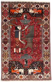 カシュガイ 絨毯 107X174 オリエンタル 手織り 深紅色の/黒 (ウール, ペルシャ/イラン)
