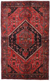 ハマダン 絨毯 138X225 オリエンタル 手織り 深紅色の/黒 (ウール, ペルシャ/イラン)