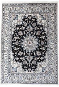 ナイン 絨毯 147X210 オリエンタル 手織り 薄い灰色/濃いグレー (ウール, ペルシャ/イラン)