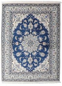 ナイン 絨毯 153X206 オリエンタル 手織り 薄い灰色/紺色の (ウール, ペルシャ/イラン)