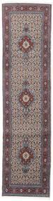 ムード 絨毯 76X293 オリエンタル 手織り 廊下 カーペット 薄い灰色/濃い茶色 (ウール/絹, ペルシャ/イラン)