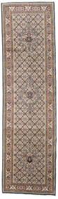 ムード 絨毯 81X296 オリエンタル 手織り 廊下 カーペット 薄い灰色/ホワイト/クリーム色 (ウール/絹, ペルシャ/イラン)