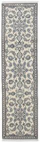 ナイン 絨毯 77X288 オリエンタル 手織り 廊下 カーペット 濃いグレー/薄い灰色/ベージュ (ウール, ペルシャ/イラン)