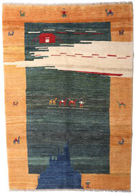 ギャッベ Rustic 絨毯 193X281 モダン 手織り 黒/オレンジ (ウール, ペルシャ/イラン)