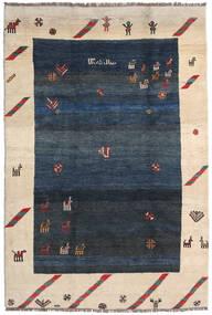ギャッベ Rustic 絨毯 218X325 モダン 手織り 紺色の/ベージュ (ウール, ペルシャ/イラン)
