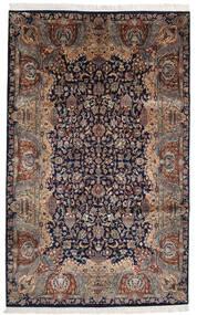 カシャン インド 絨毯 193X310 オリエンタル 手織り 黒/薄茶色 (ウール, インド)