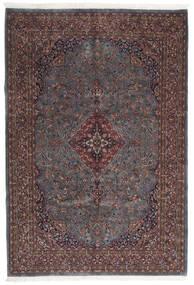 カシャン インド 絨毯 203X299 オリエンタル 手織り 濃い茶色/濃いグレー (ウール, インド)