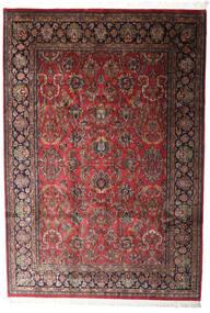 カシャン インド 絨毯 196X285 オリエンタル 手織り 深紅色の/濃いグレー (ウール, インド)