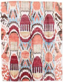 Sari ピュア シルク 絨毯 154X204 モダン 手織り ベージュ/暗めのベージュ色の (絹, インド)