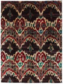 Sari ピュア シルク 絨毯 275X363 モダン 手織り 濃い茶色/深紅色の 大きな (絹, インド)