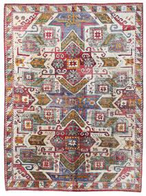 Sari ピュア シルク 絨毯 251X341 モダン 手織り 濃いグレー/薄い灰色 大きな (絹, インド)