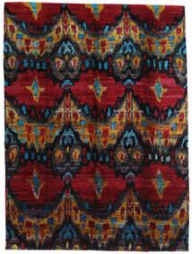 Sari ピュア シルク 絨毯 279X374 モダン 手織り 濃い茶色/深紅色の 大きな (絹, インド)