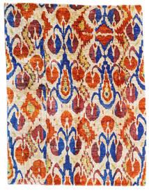 Sari ピュア シルク 絨毯 155X203 モダン 手織り ベージュ/黄色 (絹, インド)