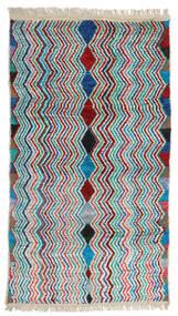 Moroccan Berber - Afghanistan 絨毯 105X192 モダン 手織り 深紅色の/ベージュ (ウール, アフガニスタン)