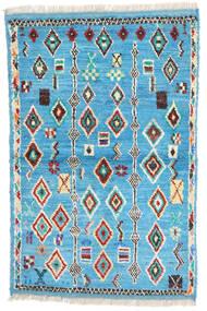 Moroccan Berber - Afghanistan 絨毯 88X132 モダン 手織り ターコイズブルー/ベージュ (ウール, アフガニスタン)