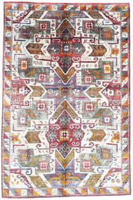 Sari ピュア シルク 絨毯 195X297 モダン 手織り 薄い灰色/ベージュ (絹, インド)