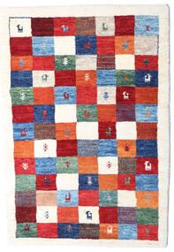Loribaft ペルシャ 絨毯 83X125 モダン 手織り ベージュ/深紅色の (ウール, ペルシャ/イラン)