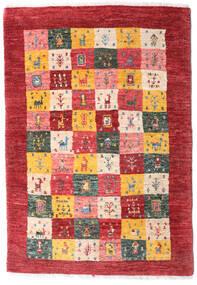 Loribaft ペルシャ 絨毯 80X117 モダン 手織り 深紅色の/薄茶色 (ウール, ペルシャ/イラン)