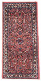 サルーク 絨毯 65X136 オリエンタル 手織り 濃い紫/深紅色の (ウール, ペルシャ/イラン)
