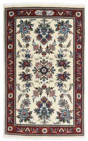 サルーク 絨毯 86X136 オリエンタル 手織り ベージュ/濃い茶色 (ウール, ペルシャ/イラン)