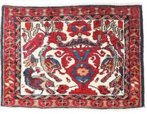 アフシャル/Sirjan 絨毯 55X78 オリエンタル 手織り 赤/深紅色の (ウール, ペルシャ/イラン)