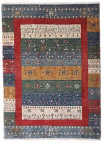 Loribaft ペルシャ 絨毯 72X103 モダン 手織り 濃いグレー/深紅色の/薄い灰色 (ウール, ペルシャ/イラン)