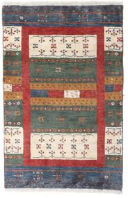 Loribaft ペルシャ 絨毯 58X90 モダン 手織り 濃いグレー/深紅色の (ウール, ペルシャ/イラン)