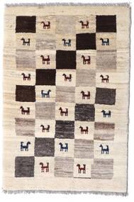 Loribaft ペルシャ 絨毯 60X90 モダン 手織り ベージュ/薄い灰色 (ウール, ペルシャ/イラン)